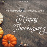 Happy Thanksgiving from Shipsurance!